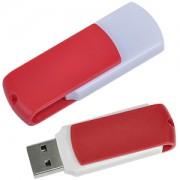 USB flash-карта 'Easy' (8Гб),белая с красным, 5,7х1,9х1см,пластик