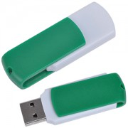 USB flash-карта 'Easy' (8Гб),белая с зеленым, 5,7х1,9х1см,пластик