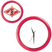 Часы настенные 'ПРОМО' разборные ; красный, D28,5 см; пластик/стекло