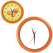 Часы настенные 'ПРОМО' разборные ; оранжевый,  D28,5 см; пластик/стекло