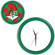 Часы настенные 'ПРОМО' разборные ; зеленый,  D28,5 см; пластик/стекло