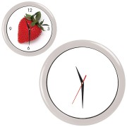 Часы настенные 'ПРОМО' разборные ;  белый, D28,5 см; пластик/стекло