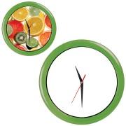 Часы настенные 'ПРОМО' разборные ; зеленый яркий,  D28,5 см; пластик/стекло