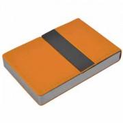 Визитница 'Меридиан'; оранжевый; 9,5х6,4х1,6 см; иск. кожа, металл; лазерная гравировка