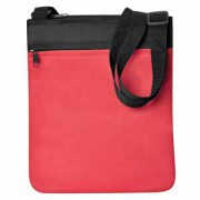 Промо сумка на плечо 'Simple'; красный; 23х28 см; полиэстер; шелкография