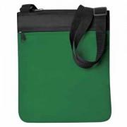 Промо сумка на плечо 'Simple'; зеленый; 23х28 см; полиэстер; шелкография