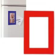 Фоторамка магнитная; красная; 11,5х16,5х0,1см для фото 9х13см; пластик