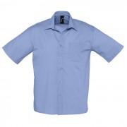 Рубашка'Bristol', васильковый_M, 65% полиэстер, 35% хлопок, 105г/м2