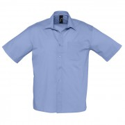 Рубашка'Bristol', васильковый_L, 65% полиэстер, 35% хлопок, 105г/м2
