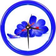 Часы настенные 'PRINT' разборные ;  темно-cиний, D24,5 см; пластик