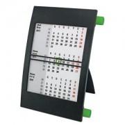 Календарь настольный на 2 года; черный с зеленым; 18х11 см; пластик; тампопечать, шелкография
