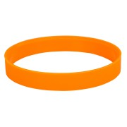 Браслет силиконовый 'Фантазия-2';  D6см, оранжевый