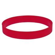 Браслет силиконовый 'Фантазия-2';  D6,5 см, красный