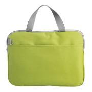 Конференц-сумка 'Тодес-2' отделением для ноутбука, зеленый, 40*30*2,5 см; полиэстер 600D; шелкогр
