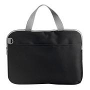 Конференц-сумка 'Тодес-2' с отделением для ноутбука, черный, 40*30*2,5 см; полиэстер 600D; шелког