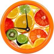 Часы настенные 'PRINT' разборные ;  оранжевый, D24,5 см; пластик