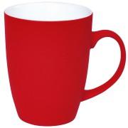 Кружка 'Sweet' с прорезиненным покрытием, красный, 350 мл, фарфор