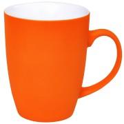 Кружка 'Sweet' с прорезиненным покрытием, оранжевый, 350 мл, фарфор