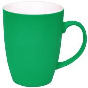 Кружка 'Sweet' с прорезиненным покрытием, зеленый, 350 мл, фарфор