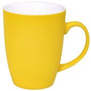 Кружка 'Sweet' с прорезиненным покрытием, желтый, 350 мл, фарфор