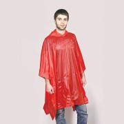 Дождевик 'AntiRain'; красный; универсальный размер (в сложенном виде 24х17,5 см.); ПВХ