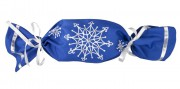 Упаковка-конфета «Снежинки», синяя