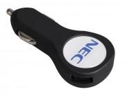 Автомобильное зарядное устройство с подсветкой Logocharger Slim, черное