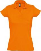 Рубашка поло женская Prescott women 170, оранжевая