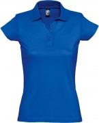 Рубашка поло женская Prescott women 170, ярко-синяя (royal)