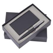 Набор 'Mirror': универсальное зарядное устройство (6000мАh) и ручка, черный, 17,5х11х4см, металл