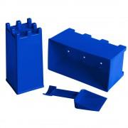 Набор для лепки замков из снега и песка, синий