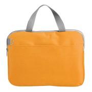 Конференц-сумка 'Тодес-2' отделением для ноутбука, оранжевый, 40*30*2,5 см; полиэстер 600D; шелкогр