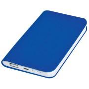 Универсальное зарядное устройство 'Softi' (4000mAh),синий, 7,5х12,1х1,1см, искусственная кожа,пл