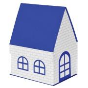 Коробка подарочная 'ДОМ'  складная,  синий,  15*21*27 см,  кашированный картон, тиснение