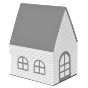 Коробка подарочная 'ДОМ'  складная,  серый,  15*21*27 см,  кашированный картон, тиснение
