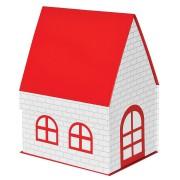 Коробка подарочная 'ДОМ'  складная,  красная,  15*21*27 см,  кашированный картон, тиснение