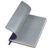 Бизнес-блокнот 'Funky' фиолетовый с  серым форзацем, мягкая обложка,  линейка