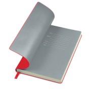 Бизнес-блокнот 'Funky', 130*210 мм,  красный, серый форзац, мягкая обложка, блок-линейка