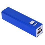 Универсальное зарядное устройство 'Thazer' (2200 mAh), синий, 9,4х2,2х2,2 см, металл