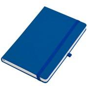 Бизнес-блокнот А5  'Silky', синий,  твердая обложка,  в клетку