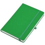 Бизнес-блокнот А5  'Silky', ярко-зеленый,  твердая обложка,  в клетку