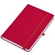 Бизнес-блокнот А5  'Silky', красный,  твердая обложка,  в клетку