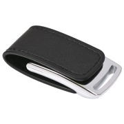 USB flash-карта 'Lerix' (8Гб), черный, 6х2,5х1,3см, металл, искусственная кожа