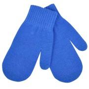 Варежки сенсорные 'In touch', синий, М, акрил 100%.  шеврон