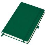 Бизнес-блокнот 'Justy', 130*210 мм, зеленый, твердая обложка,  резинка 7 мм, блок-линейка, тиснение