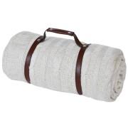 Плед 'Ирландский'  дорожный,  с ремнем,  130х150 см;  вышивка