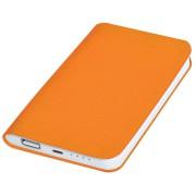 Универсальное зарядное устройство 'Softi' (4000mAh),оранжевый, 7,5х12,1х1,1см, искусственная кожа,пл