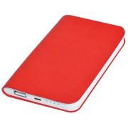 Универсальное зарядное устройство 'Softi' (4000mAh),красный, 7,5х12,1х1,1см, искусственная кожа,пл
