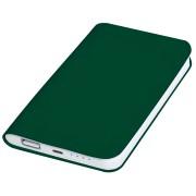 Универсальное зарядное устройство 'Softi' (4000mAh),зеленый, 7,5х12,1х1,1см, искусственная кожа,пл