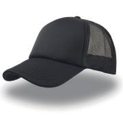 Бейсболка 'Rapper', 5 клиньев, поролоновая вставка, сетка, пластиковая застежка пвх, черный; 100% по